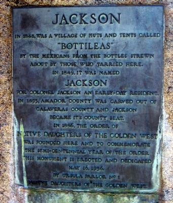 Jackson Marker image. Click for full size.