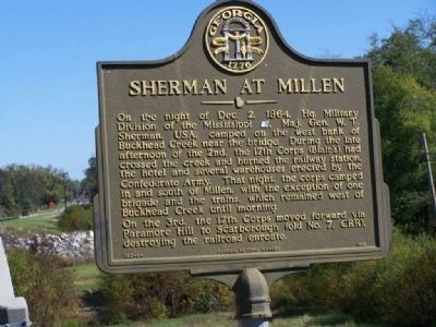 Sherman at Millen Marker image. Click for full size.