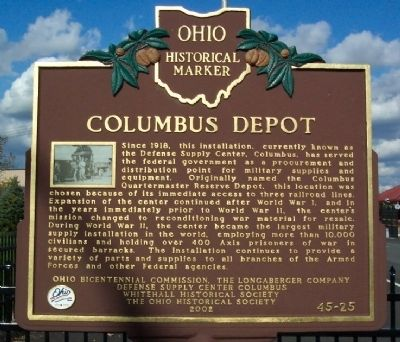 Columbus Depot Marker image. Click for full size.