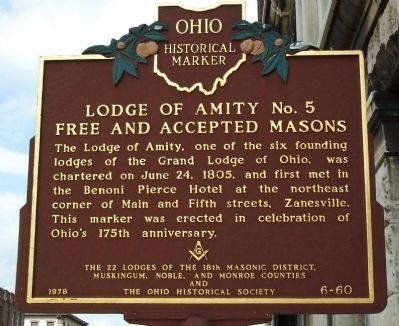 Lodge of Amity No. 5 Free and Accepted Masons Marker image. Click for full size.