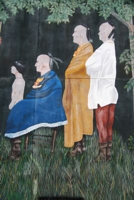 Mural Detail - Cherokee Chief<br>Witnessing the Treaty image. Click for full size.