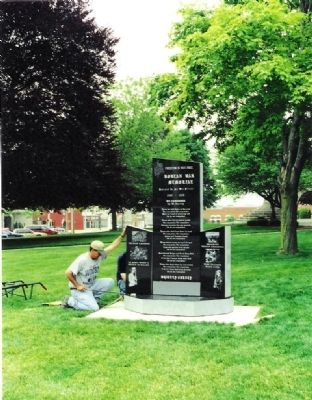 Side Sections Placed - - Whitley County Korean War Memorial Marker image. Click for full size.