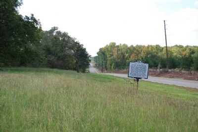 Jacob Odom House Marker Looking West image. Click for full size.