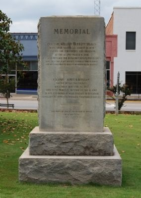 Travis / Bonham Memorial Marker image. Click for full size.