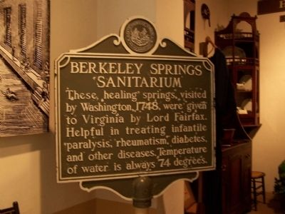 Berkeley Springs Sanitarium Marker image. Click for full size.