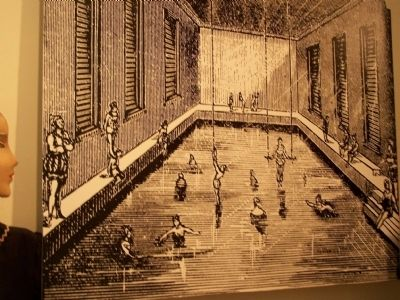 Sketch of Baths in the 1880's. image. Click for full size.