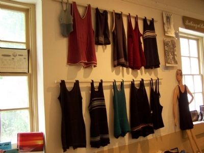 Display of women's bathing suits. image. Click for full size.