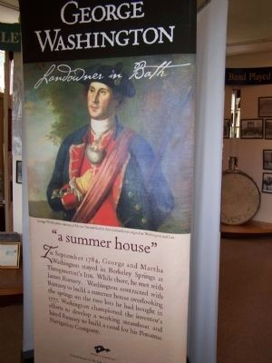George Washington display in Berkeley Springs Museum image. Click for full size.