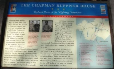 The Chapman-Ruffner House Marker image. Click for full size.