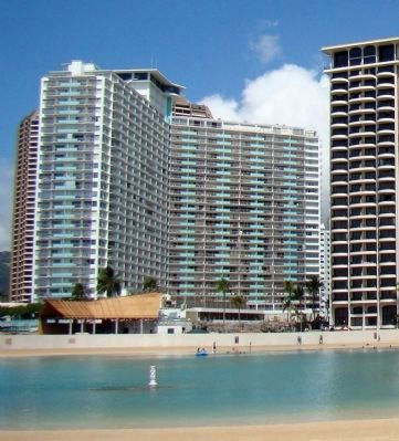 View of the Ilikai from the Hilton Lagoon image. Click for full size.