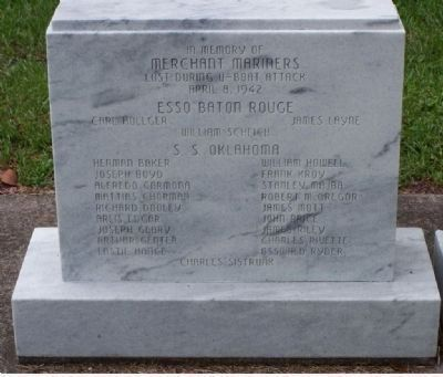 Glynn County War Memorial Marker - Merchant Marine Tablet image. Click for full size.