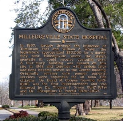 Milledgeville State Hospital Marker image. Click for full size.