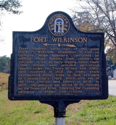 Fort Wilkinson Marker image. Click for full size.