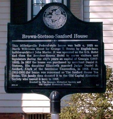 Brown-Stetson-Sanford House Marker image. Click for full size.