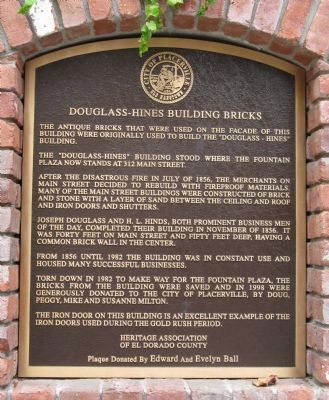 Douglass – Hines Building Bricks Marker image. Click for full size.