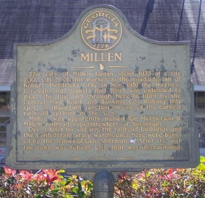 Millen Marker image. Click for full size.