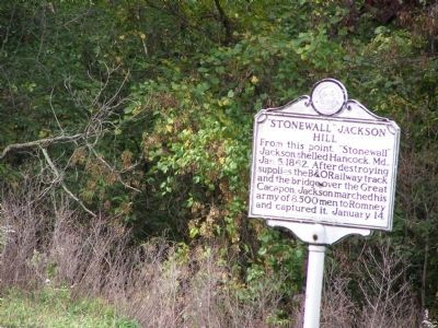 """Stonewall"" Jackson Hill Marker image. Click for full size."