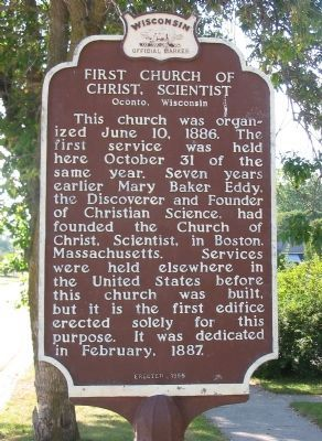 First Church of Christ, Scientist Marker image. Click for full size.