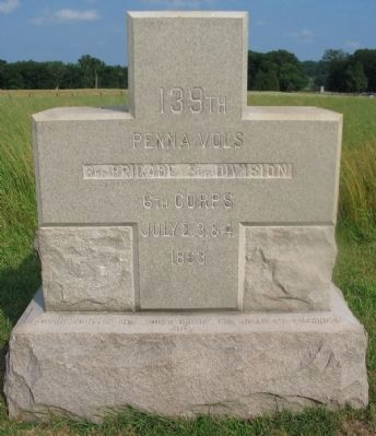 139th Pennsylvania Volunteers Monument image. Click for full size.