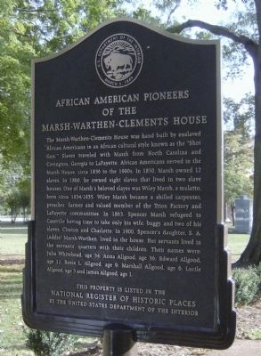 African American Pioneers of the Marsh-Warthen-Clements House Marker image. Click for full size.