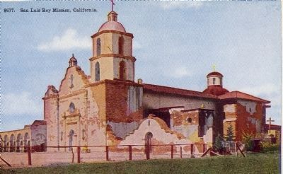 San Luis Rey Mission, California image. Click for full size.