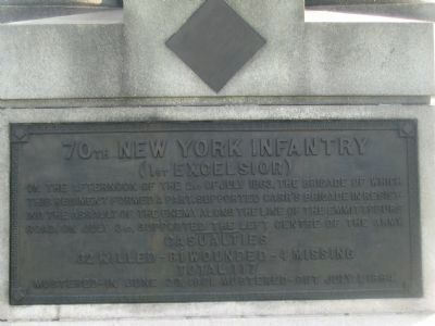 70th Regiment Plaque image. Click for full size.