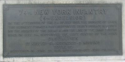 74th Regiment Plaque image. Click for full size.