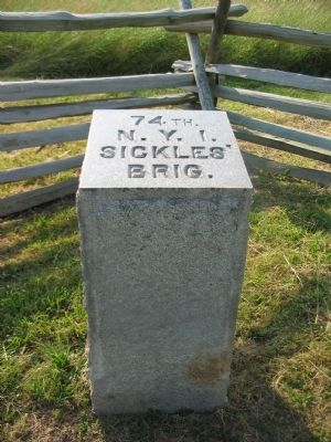 74th Regiment Marker Stone image. Click for full size.
