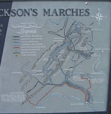 Stonewall Jackson's Marches Map image. Click for full size.