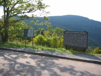 Markers at Fishers Gap Overlook image. Click for full size.