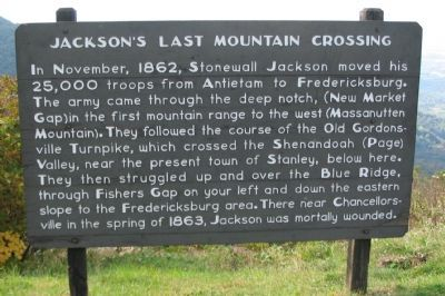 Jackson's Last Mountain Crossing Marker image. Click for full size.