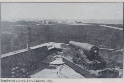 Southwest corner, Fort Pulaski, 1863. image. Click for full size.