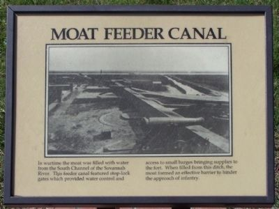 Moat Feeder Canal Marker image. Click for full size.