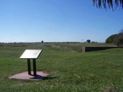Moat Feeder Canal Marker at Fort Pulaski image. Click for full size.