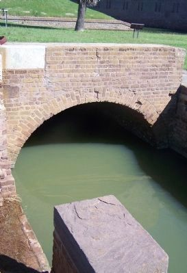 Moat Feeder Canal close-up image. Click for full size.