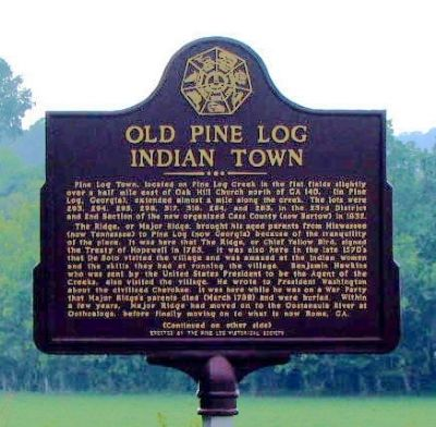 Old Pine Log Indian Town Marker image. Click for full size.