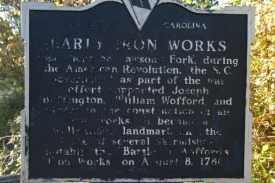 Early Iron Works Marker image. Click for full size.