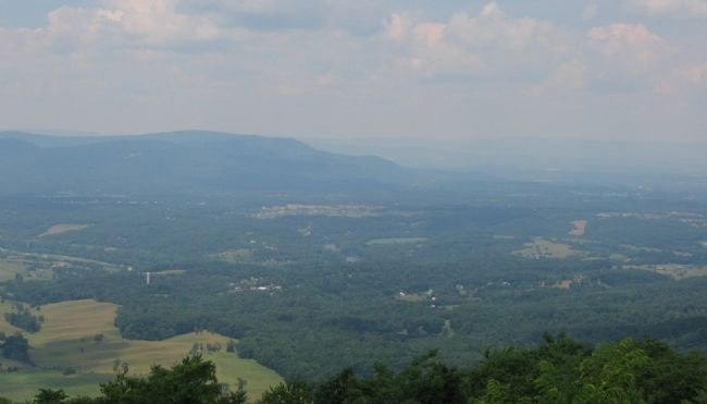 The Massanutten Mountain and Signal Knob image. Click for full size.