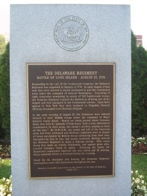 The Delaware Regiment Marker image. Click for full size.