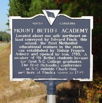 Mount Bethel Academy Marker - Front image. Click for full size.