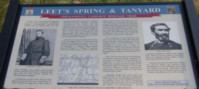 Leet's Spring and Tanyard Marker image. Click for full size.