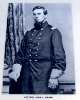 Leet's Spring and Tanyard Marker-Col. John T. Wilder image. Click for full size.