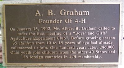 A. B. Graham Marker image. Click for full size.