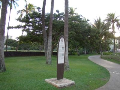 Fort DeRussy Park and Marker image. Click for full size.