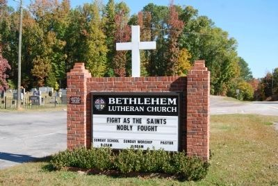 Bethlehem Lutheran Church Sign image. Click for full size.