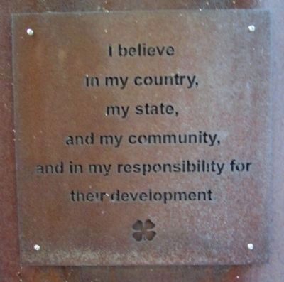 4-H Creed - My Responsibility image. Click for full size.