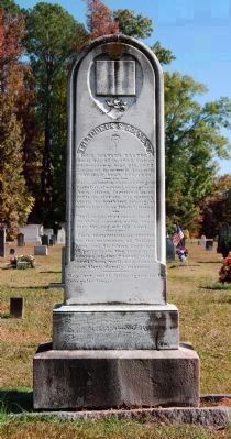Thaddeus Boinest Monument (Carved by J.R. Leavell), Pastor of Bethlehem Lutheran Church image. Click for full size.