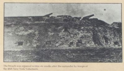 The Breached Wall Marker. Lower left picture image. Click for full size.