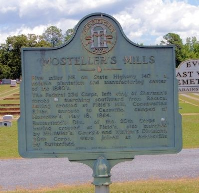 Mosteller's Mills Marker image. Click for full size.