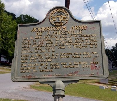 Johnston's Army at Adairsville Marker image. Click for full size.